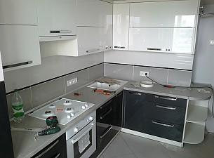 Кухня High Gloss, белый и антрацит