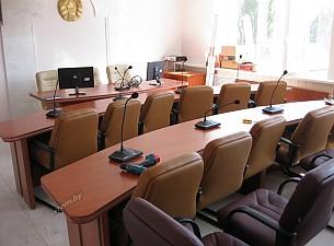 Зал заседаний ОАО Гомельстройматериалы, мебель кальвадос и металл