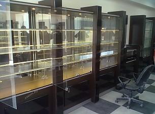 Ювелирный магазин г.Могилев, материалы МДФ, стекло, свет
