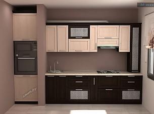 Эскиз 3d, кухня рамочный МДФ